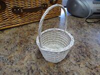 White wicker wedding basket for sale