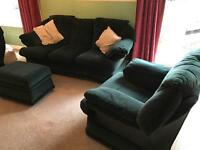 3 piece sofa with matching stool