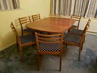 G Plan Extending Table & 8 Chairs Set *Free Delivery w/ 15 Miles*
