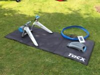 Tacx Vortex Smart Trainer with Bluetooth, training tyre and floor mat - only 90 mins use