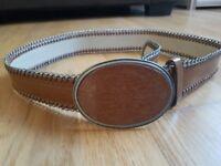 New Mango Leather Belt