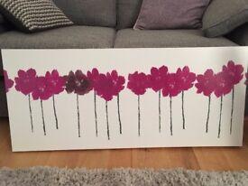 Attractive, purple/deep pink flower canvas