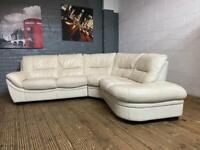 Harvey's real leather corner sofa very nice smart really comfy