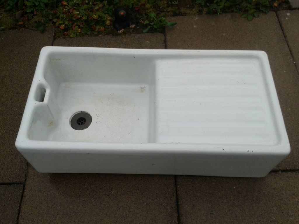 Large Belfast Butler Sink With Drainer Traditional