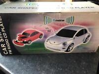 Car shaped fm radio CD player