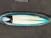"6'1"" resin8 epoxy surfboard"