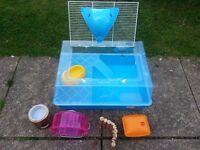 Blue Hamster Cage