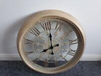 Large Rustic Wall Mounted Clock