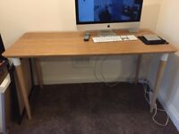 IKEA HILVER Table Top + HILVER Legs - Bamboo Desk