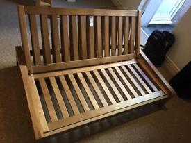 Futon sofa/double bed frame