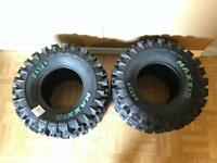 2 Brand New never used Maxxis RZR2 Rear Tires