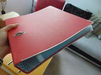 Two A4 ringbinders with files - can sell individually