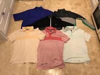 Medium golf tops and jackets