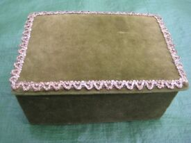 Brand New Hand Made Green Velvet Jewellery Box for £5.00