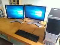 Dual screen Dell precision 390 workstation
