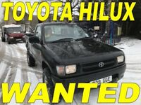 WANTED TOYOTA HIACE & TOYOTA HILUX ANY CONDITION