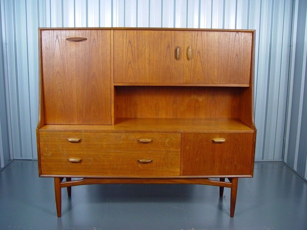 Retro G Plan Tall Sideboard Mid Century Vintage Furniture