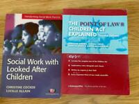 Social work and psychology texts for sale