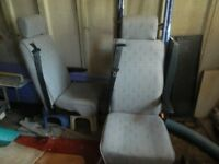 Two Toyota Hiace van seats