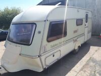 4 Berth Abi Jubilee Courier Caravan + Awning - Good condition