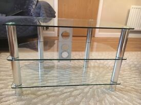 Glass TV stand from John Lewis