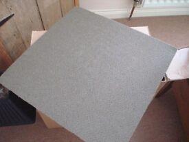 11 Green Carpet tiles 50cm x 50cm