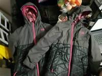 Girls geniuine north face jackets