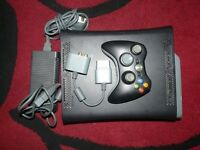 Xbox 360 Elite Black 60Gb HDD, controller, all leads, working well, COD game included