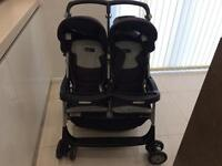 Aria Twin/Double Pushchair with Rain Cover