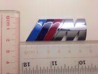 1Pcs 3 Colour Silver ///M Auto Trunk Lid Sticker Alloy Metal Emblem Decoration