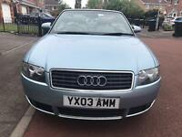 Audi A4 2.4 petrol convertible electric roof
