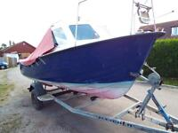 16ft boat, trailer and 30hp outboard