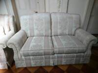 Quality 2 seater settee and chair
