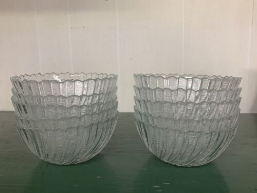 Set of 10 Cut Crystal Glass Berry Bowls Dishes - Small