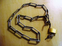Bike lock (chain & padlock)