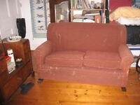 couch/sofa/settee -- sturdy old brown FREE