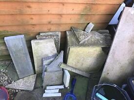 Broken slabs + loose gravel