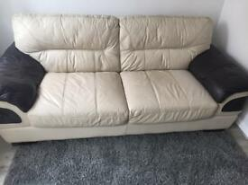 Leather sofa DFS