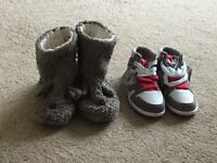 Slippers and hi tops from Next