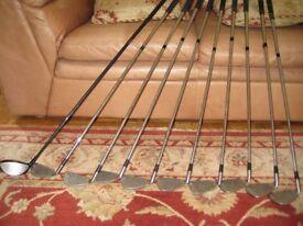 Golf clubs - 9 irons + driver