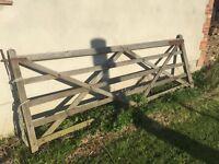 Wooden 12 foot field gate