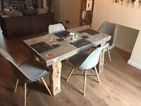 Bespoke shabby chic dining table