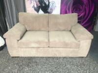 New Amalfi 2 Seater Standard Back Fabric Sofa In Mocha