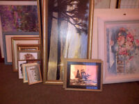 Large Quantity of Assorted Pictures and Frames. Prints, Water Colours and Oils.