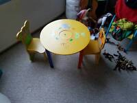 Free Kids (childs) table and chairs