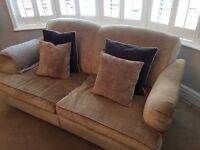 2 x Luxury Velvet Sofas. Smoke free home. Excellent condition
