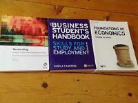 Business, economics and accounting text books