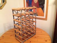 24 Bottle Wine Rack (Commercial Quality) Constructed with Pine and Steel
