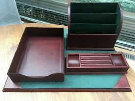 Luxury leather desk set from Pickett