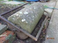 Vintage stone garden roller.